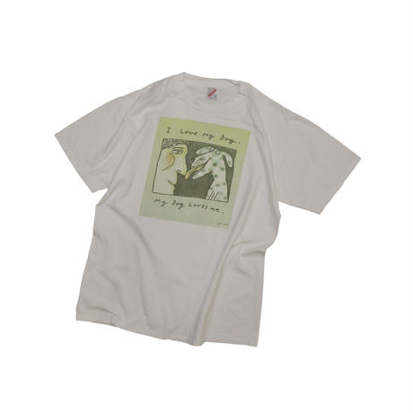 "RICHARD STINE ""I LOVE MY DOG"" USED T-shirt"