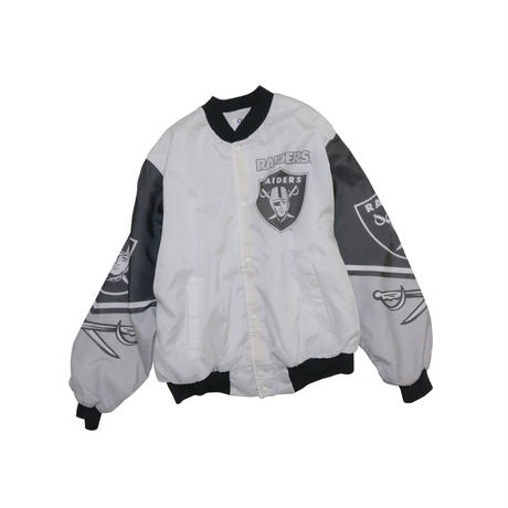 80-90'S  OAKLAND RAIDERS NYLON STADIUM JACKET