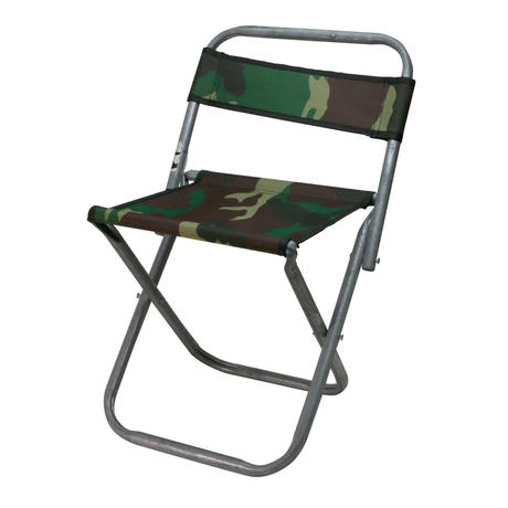 WOODLAND CAMO STEEL MINI CHAIR