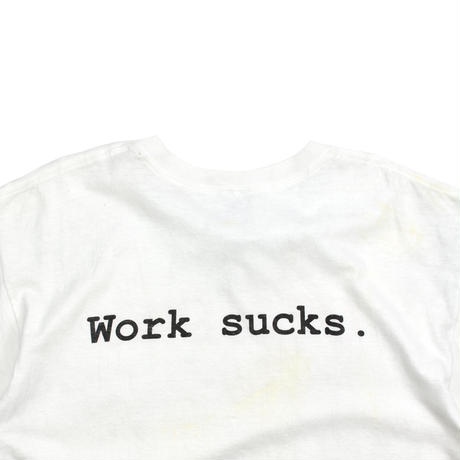"""USED 90'S """"OFFICE SPACE / WORK SUCKS"""" T-shirt"""