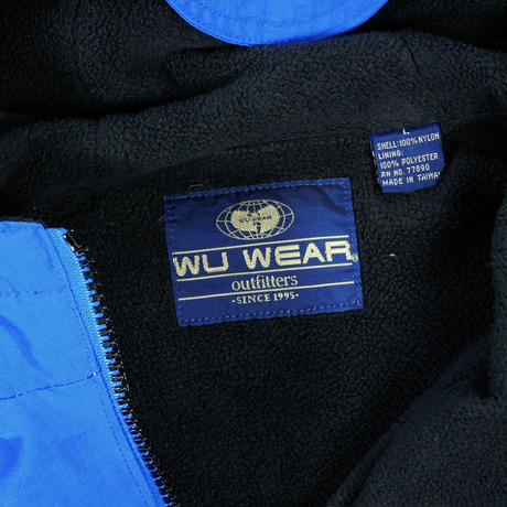 "USED ""WU WEAR"" HALF ZIP FLEECE JACKET"