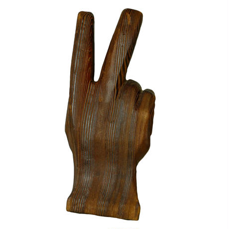 WOODEN BIG PEACE SIGN HAND