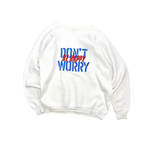 """USED 80'S """"DON'T WORRY BE HAPPY"""" SWEAT"""