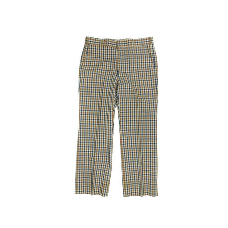 "VINTAGE ""SATURDAYS"" PLAID TRUSER"