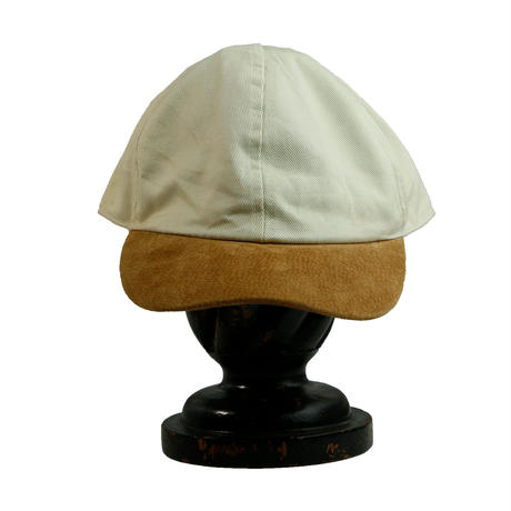 USED COTTON / SUEDE COMBI CAP