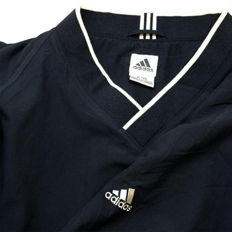 "USED ADIDAS V-NECK ""CLIMA SHELL WIND""NYLON JERSEY"