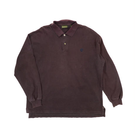 "USED ""TIMBERLAND WEATHR GEAR"" L/S POLO SHIRT"