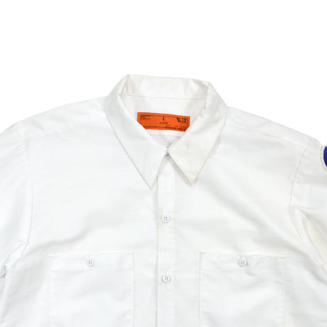 """USED """"CCR"""" DODGERS PATCHED WORK  SHIRT"""