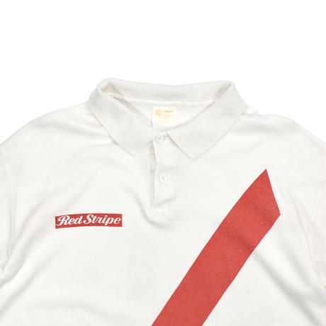 """USED """"RED STRIPE"""" POLO SHIRT"""