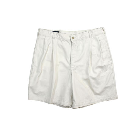"""DEADSTOCK 90'S """"LAND'S END"""" 2-TUCK CHINO SHORTS"""