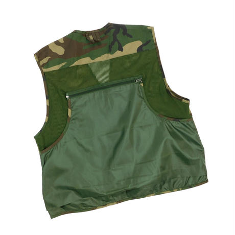 "USED ""MASTER SPORTSMAN RUGGED OUTDOOR GEAR"" CAMOUFLAGE VEST"