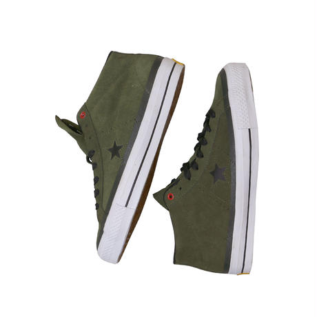 """CONS """"ONE STAR PRO MID"""" OLIVE GREEN"""