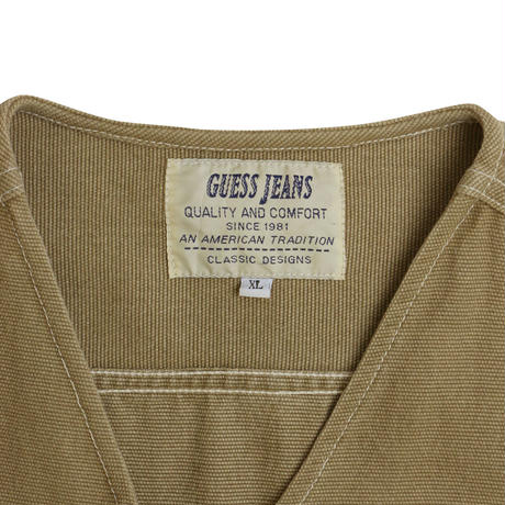 """80'S """"GUESS JEANS"""" DENIM VEST"""