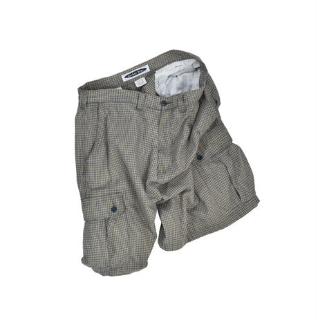 "USED ""ANCHOR BLUE"" PLAID CARGO PANTS"