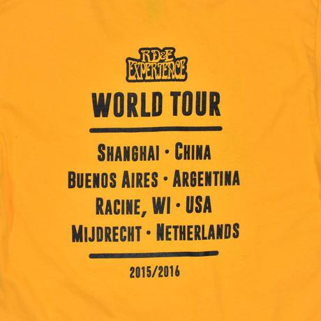 """USED """"JIMI HENDRIX"""" WORLD TOUR T-shirt"""