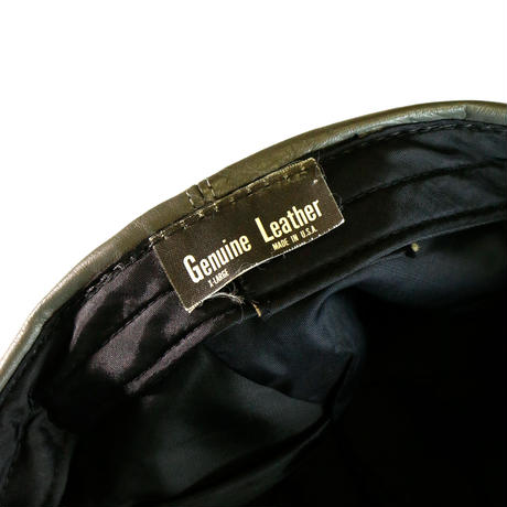 USED LEATHER CAP
