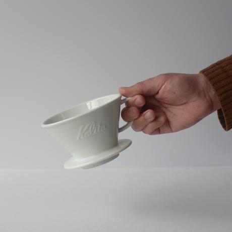 白いやきもののコーヒードリッパー/2〜4杯用