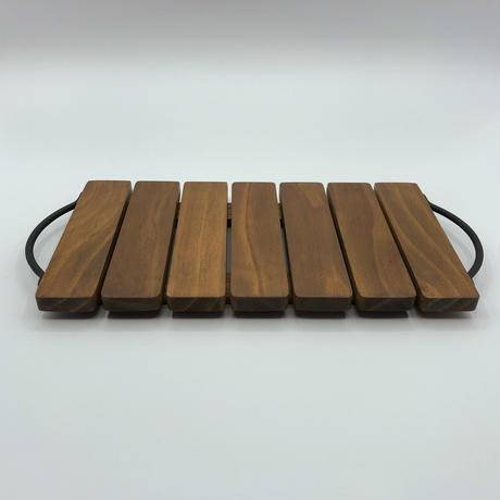 アイアンハンドル木製トレイ【Sサイズ】