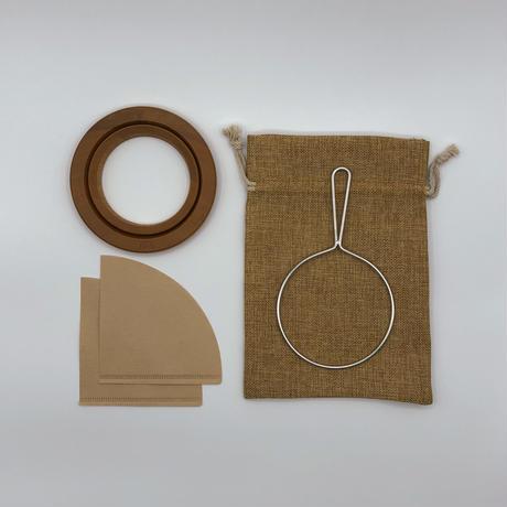 安清式 紙落としドリッパー 1~2人用 ナチュラル