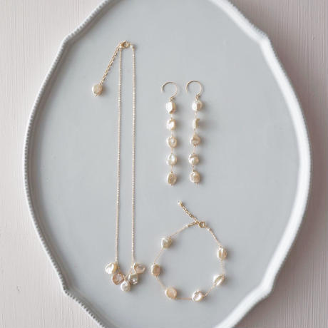 【14kgf】ケシパールのネックレス/Keshi pearl necklace