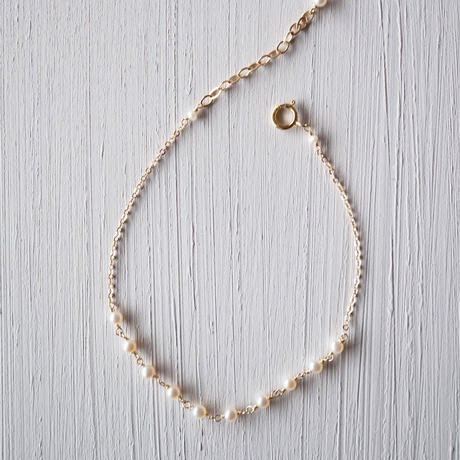 【14kgf】プチ淡水パールのブレスレット/Petit pearl bracelet