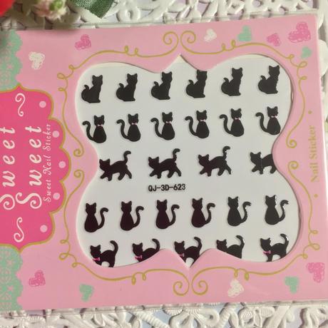■ネイルシール■黒猫