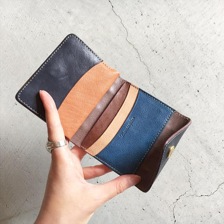 PATCHWORK TRIANGLE MINI WALLET