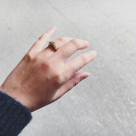 BRASS SIGNET  RING MOON