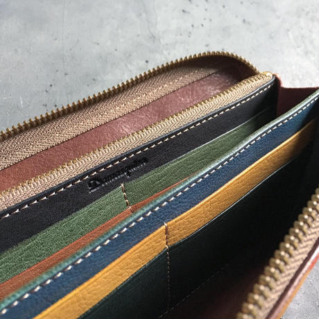 ORTEGA PATCHWORK ZIP WALLET LARGE