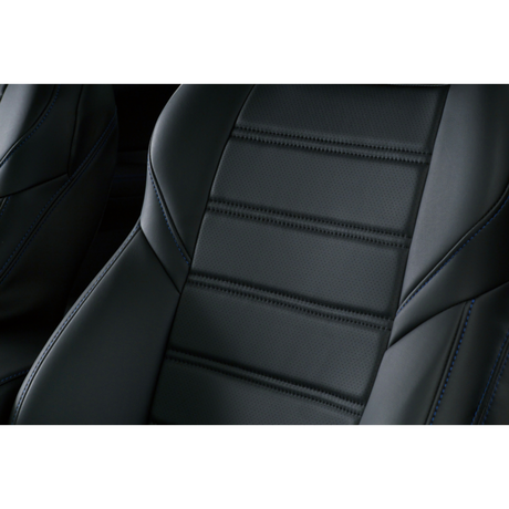 "Premium Fit Seat Cover for SUBARU LEVORG ""Black × Blue Stitch"""
