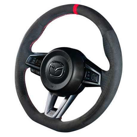 """DAMD Sports Steering Wheel for MAZDA """"SS358-M"""" Suede Type"""