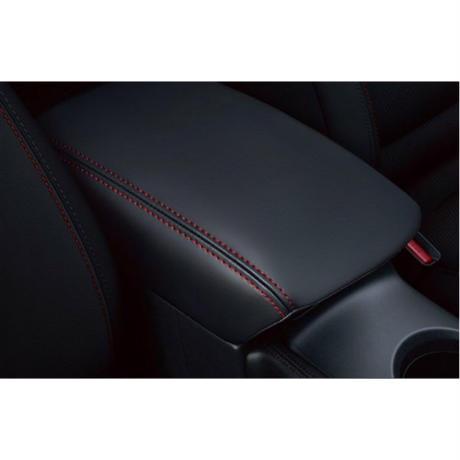 "CX-5  Arm Rest Cover ""Black × Red Stitch"""