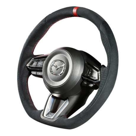 "DAMD Sports Steering Wheel for MAZDA ""SS360-M(L)"" Suede Type"