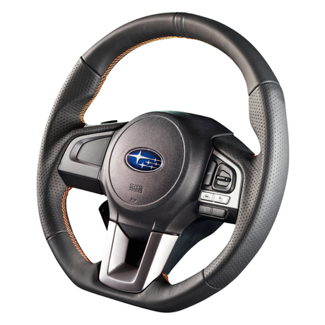 """DAMD Sports Steering Wheel for SUBARU """"SS362-RX"""" Leather Type"""