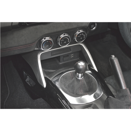 Front Center Console for MAZDA ROADSTER (ND) 【Silver Painted】