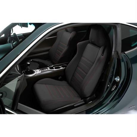 "Premium Fit Seat Cover for TOYOTA 86 / SUBARU BRZ ""Black × Red Stitch"""
