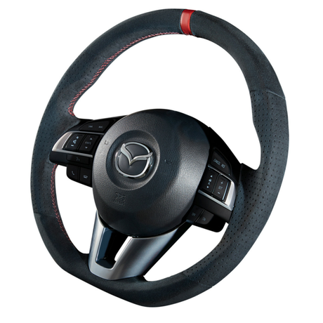 "DAMD Sports Steering Wheel for MAZDA ""SS365-M"" Suede Type"