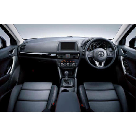"Premium Fit Seat Cover for MAZDA CX-5 (KE系/後期) ""Black × Red Stitch"""