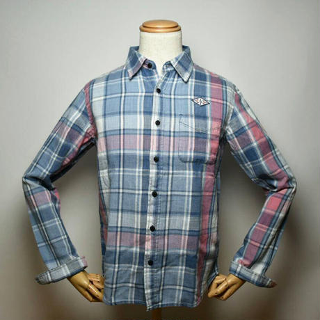 Damiano/Indigo check shirt/LB