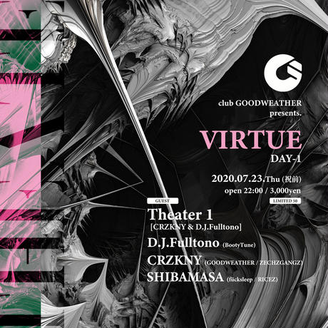 "GOODWEATHER presents. VIRTUE DAY1 ""Theater 1"""