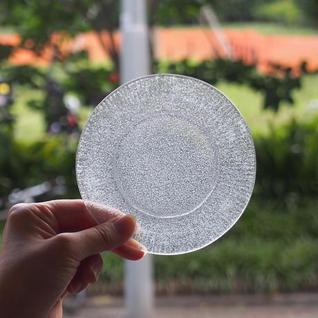 オオタ硝子研究室 リム小皿 ブルーグレー     OT-05