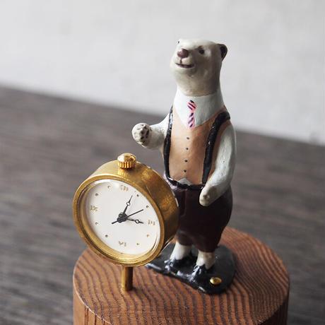 atelier coin   ★白クマの置時計/coin-01 *受注製作  ~9/11迄 *単体ご決済品