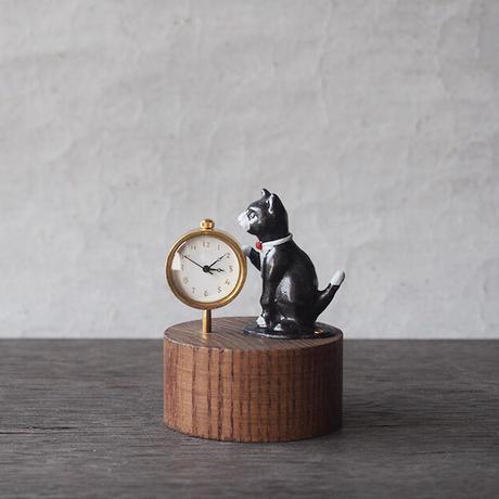 atelier coin   ★ネコの置時計/coin-02 *受注製作  ~9/11迄 *単体ご決済品