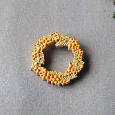 sunawo na katachi      ブローチ mimosa     SN-24