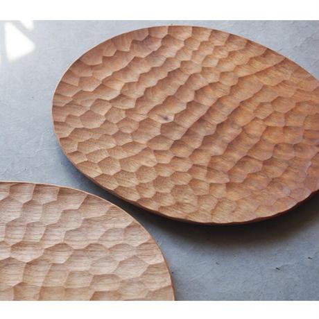 藤野智朗 クルミのオーバル皿w270×d450 TO-19