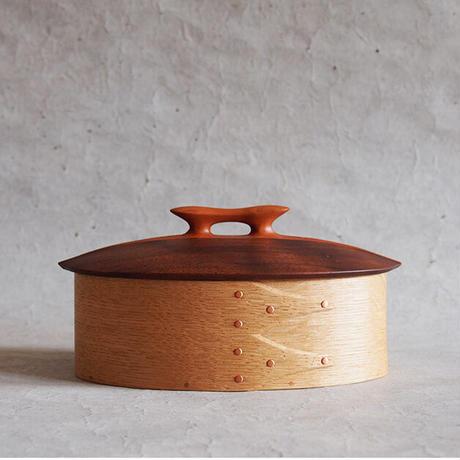 フナハシトモハル 曲げ木の木箱/取手付き FUNA-59