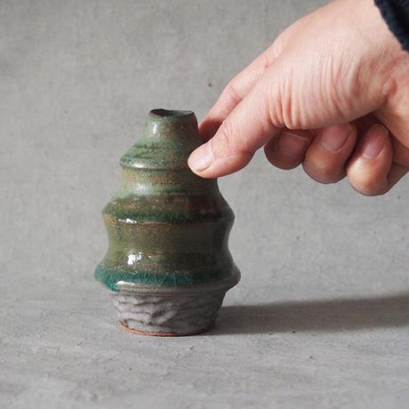 小川綾 フラワーベース  ツリー型  WAKABA深緑     OG-08