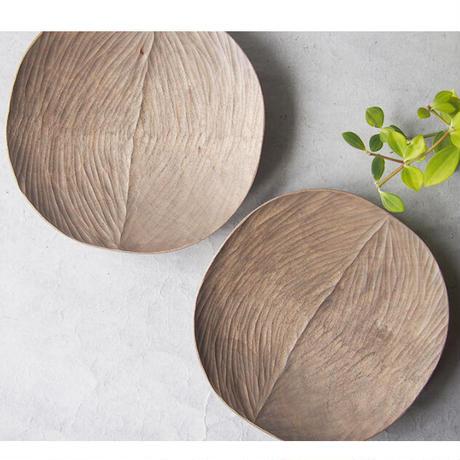 岡野達也  手彫りの木皿・大    OK-17