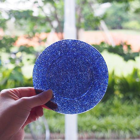 オオタ硝子研究室 リム小皿 紺       OT-06
