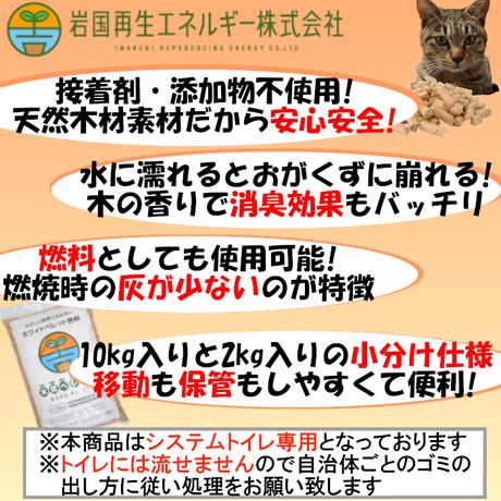 岩国再生エネルギー 猫砂 木質ペレット 24kg (39.4L) 10kg×2袋 + 2kg×2袋 崩れるタイプの猫砂